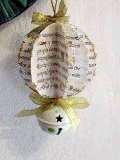 decorazioni albero di natale con carta riciclata