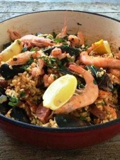 Paella met chorizo uit de Foodybox