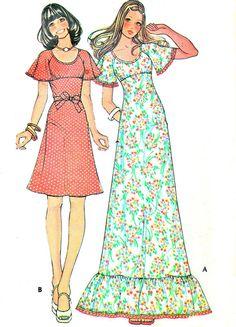 1960s Dress Pattern McCalls 4020 Empire Waist by paneenjerez, $10.00