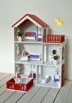 Кукольный дом ручной работы. Ярмарка Мастеров - ручная работа. Купить Кукольный домик. Handmade. Домик, туалетный столик Wooden Dollhouse, Dollhouse Dolls, Barbie Furniture, Dollhouse Furniture, Princess Doll House, Doll House Plans, Dinosaur Nursery, Barbie House, Miniature Houses