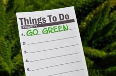 Ways to go green and focus on different levels of tasks #greenliving #green #ecofriendly