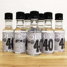 Custom Mini Bottle Birthday Favors Personalized Liquor Labels and Empty 50 mL Bottles 30 40 50 60 Alcohol Party Adult Birthday Men EB-1057