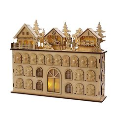 The Kurt Adler 13 in. LED Wooden Advent Calendar makes it fun and easy to count down the days until Christmas. Beautifully designed, this wooden calendar. Advent Calendar House, Calendar Home, Christmas Countdown Calendar, Advent House, Calendar Ideas, Wooden Advent Calendar, German Advent Calendar, Advent Calenders, 3d Laser