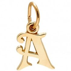 Rembrandt A-Z: Initials Charm, Gold Plated Silver