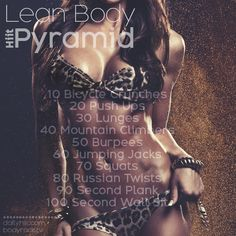 Torch 200 Calories at Home with this Lean Body Hiit Pyramid! | Hiit Blog