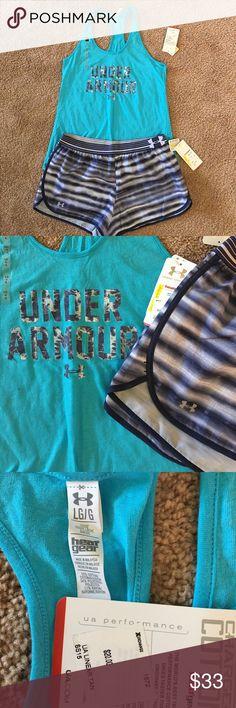 UA Running set UA Running set, both items size L Under Armour Shorts