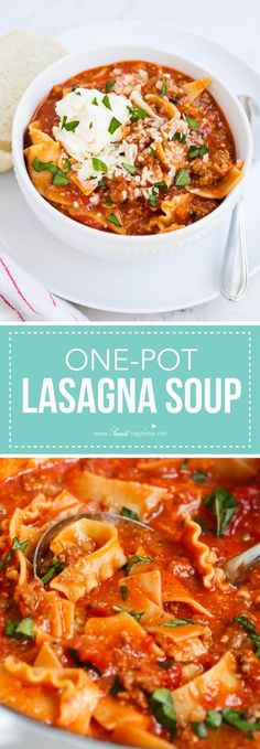 you'll love this easy weeknight dinner idea! if you love lasagna you'll love this soup!