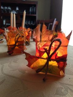 How to Make Autumn Candles