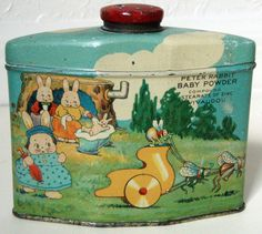 PETER RABBIT BABY POWDER ADVERTISING TIN