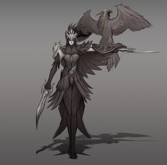 Quinn and Valor early concept art by IronStylus