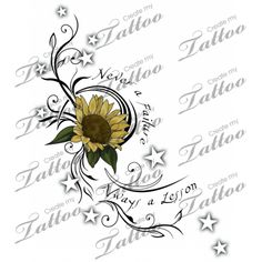 Sunflower ankle tattoo - would want this to be orange