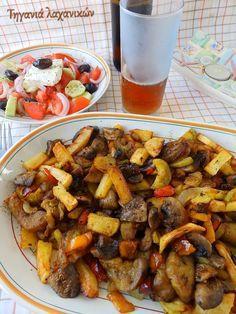 Τηγανιά λαχανικών με κουρκουμά... ο καλύτερος μπυρομεζές Chicken, Blog, Blogging, Cubs