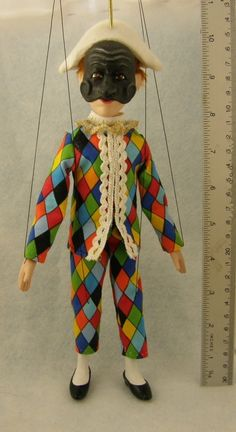 marionette Commedia dell'arte Harlequin by AMCreatures on Etsy