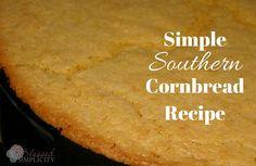 Southern Cornbread Recipe, Homemade Cornbread, Artisan Bread Recipes, Healthy Bread Recipes, Flourless Bread, Soul Food, Favorite Recipes, Dinners, Menu