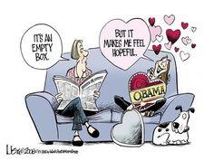 Barack Obama Empty Hope cartoon