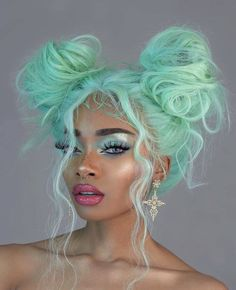 Hair Dye Colors, Cool Hair Color, Pretty Hairstyles, Wig Hairstyles, Updo Hairstyle, Wedding Hairstyles, Hair Inspo, Hair Inspiration, Curly Hair Styles