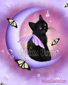 Daybreak Moon Pearls ~ for all the beloved Black Cat Angels