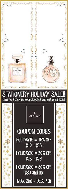 R.atelier Mega Holiday Stationery Sale!