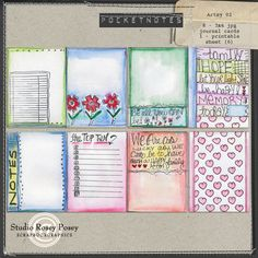 Refreshingly different journaling cards for digi PL