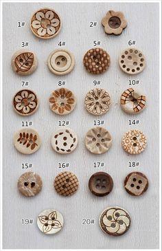 100pcs/lot projetos mistos de coco botão shell escultura diferente, botões mistos 11,13,15 mm para DIY costura retalhos freeshipping 16.68