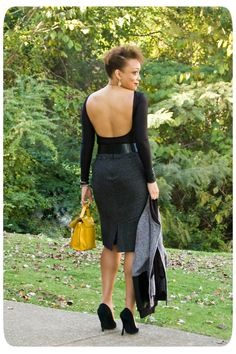 Erika B. looking STUNNING in a low back Nettie Diy Fashion No Sew, Fashion Sewing, Sew Your Own Clothes, Sewing Clothes, Sewing Blogs, Sewing Projects, Fashion Ideas, Fashion Inspiration, Couture Sewing