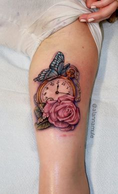 Clock Tattoo Ideas - Tattoo Designs For Women! Baby Tattoos, Body Art Tattoos, Tattoos For Guys, Sleeve Tattoos, Tattoos For Women, Portrait Tattoos, Pretty Tattoos, Beautiful Tattoos, Cool Tattoos