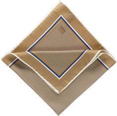 $29, Tan Print Pocket Square: Jos. A. Bank Square Block Neat Pocket Square. Sold by Jos. A. Bank. Click for more info: http://lookastic.com/men/shop_items/121667/redirect