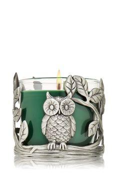 Small Owl Cast Candle Sleeve Pinned by www.myowlbarn.com