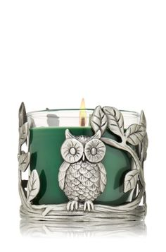 Silver Owl Candle Sleeve