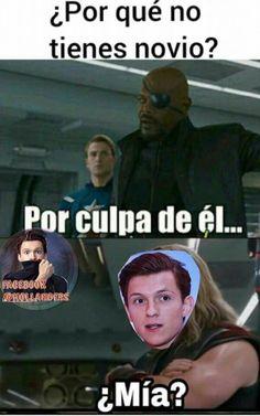 Amo a Tom Holland, soy legalmente Hollander Tom Holland, Avengers Memes, Marvel Memes, Best Memes, Funny Memes, Real Angels, English Memes, Disney Memes, How To Speak Spanish