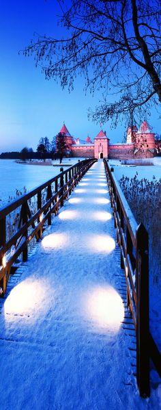 Trakai Island Castle, Vilnius, Lithuania.