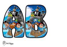 Piraci: Okrągłe litery i cyfry Dzień postaci z bajek Litery i cyfry do tworzenia napisów Piraci Postacie Fallout Vault, Initials, Lettering, Boys, Fictional Characters, Calligraphy, Art, Lyrics, Baby Boys