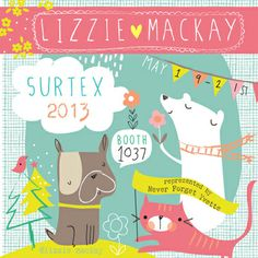 Love these animals by Lizzie Mackay! print & pattern