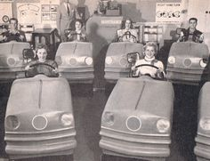 These 1950s student drivers are ready to hit the road! Well... maybe not just yet.