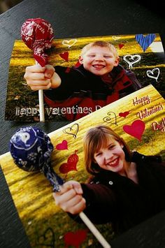 DIY Valentine's Day cards with the kid's pictures