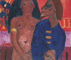 Frauen Emil Nolde Exotisches Paar Neu 2 Kunstkarten
