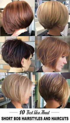 10 Idea About Short Bob Hairstyles And Haircuts : Marvelous Hairstyle Ideas Short Layered Bob Haircuts, Stacked Bob Hairstyles, Bob Hairstyles For Fine Hair, Medium Bob Hairstyles, Older Women Hairstyles, Short Hair With Layers, Short Hair Cuts For Women, Styles Bob, Short Hair Styles