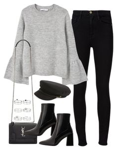 """Untitled #1709"" by breannaflorence on Polyvore featuring Frame Denim, MANGO, Yves Saint Laurent, Brixton and Miss Selfridge"