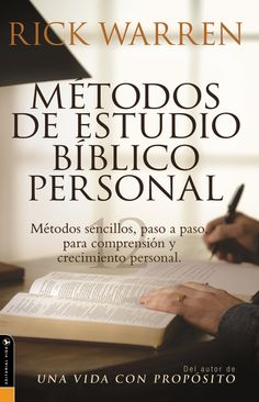 Metodos De Estudio Biblico Personal (Personal Bible Study Methods: 12 ways to study the Bible on your own) (Spanish Edition) Books And Coffee, Book Background, Study Methods, Study Help, Word Study, Book Reader, Marriage Advice, Free Books, Book Quotes