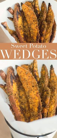 These sweet potato wedges are quick and easy to make. Takes only 5 ingredients and are perfect thanksgiving side or an afternoon snack.