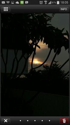 Sunset after raining