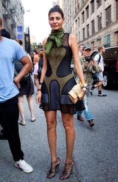 trumpet skirt on Giovanna Battaglia