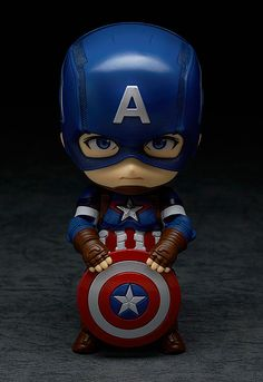 The next of the Avengers to join the Nendoroids - Captain America! From 'Avengers: Age of Ultron' comes a figure of the leader of the Avengers, Captain America! The fully articulated Nendoroid has been carefully sculpted and painted with his u. Batman Wallpaper, Cartoon Wallpaper Hd, Avengers Wallpaper, Chibi Marvel, Marvel Art, Marvel Heroes, Marvel Avengers, Avengers Series, Anniversaire Captain America