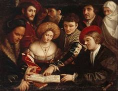 Musical Entertainment of artist Sebastiano Florigerio, 115cm, 1500-after, 1543