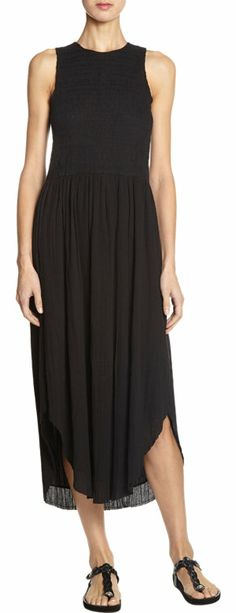 ULLA JOHNSON Gauze Sleeveless Cowrie Dress