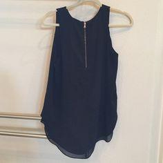 Portmons sleeveless top Black top with back zipper Portmons Tops Blouses