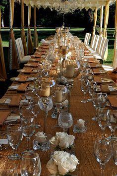 #Cream and #gold table settings