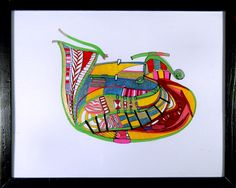 ARTIST: Joseph Meloy  MEDIUM: Oil marker & ink on paper  SIZE: 15 x 12 inches (including frame.)  PRICE: $550 USD