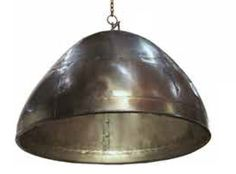 Large Rivetted Dome Pendant Copper Finish | Sydney Lighthouse