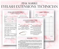 Pink Eyelash Extension Client Forms, Printable Client Information Form, Eyelash Consultation Form, Client Eyelash Design WHATS INCLUDED: ► Eyelash Extension Client Information ► Consultation And Design Form - Release on the bottom of the page ► Client History Card ► Aftercare Card ►